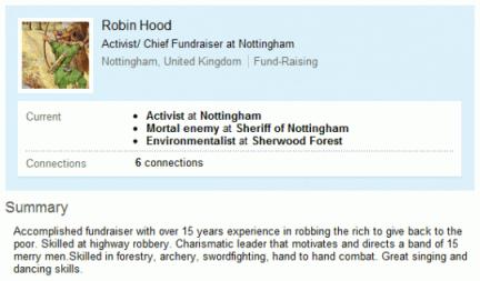 Robin Hood on LinkedIn