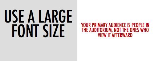 Tiny Font in Presentations